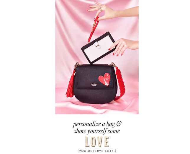 5aa260dc57 Another great angle for Valentine s Day  Encourage shoppers to buy gifts  for themselves. Have a look at what Kate Spade is doing.