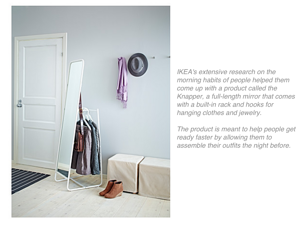 In Addition, IKEA Researchers Often Put Themselves In The Homes Of Their  Customers. They Frequently Do Home Visits And Will Even Hire  Anthropologists To ...