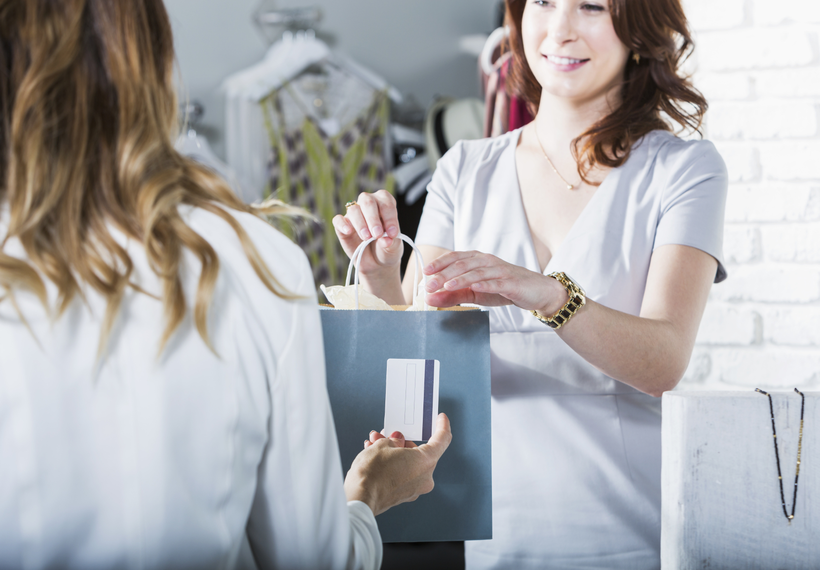 Customer Paying In Boutique  Sales Associate