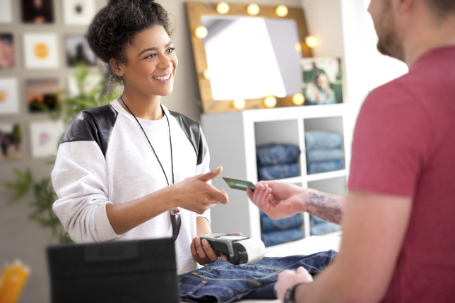 Clothes shop sales assistant