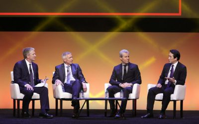 Building Tomorrow's Workforce: How Retailers Are Attracting and Retaining Talent Keynote at Retail's BIG Show 2017. Bill Brand, President, HSN, Greg Foran, President and CEO, Walmart U.S., Terry J. Lundgren, Chairman and CEO, Macy's, Inc., James Rhee, Executive Chairman and CEO, Ashley Stewart