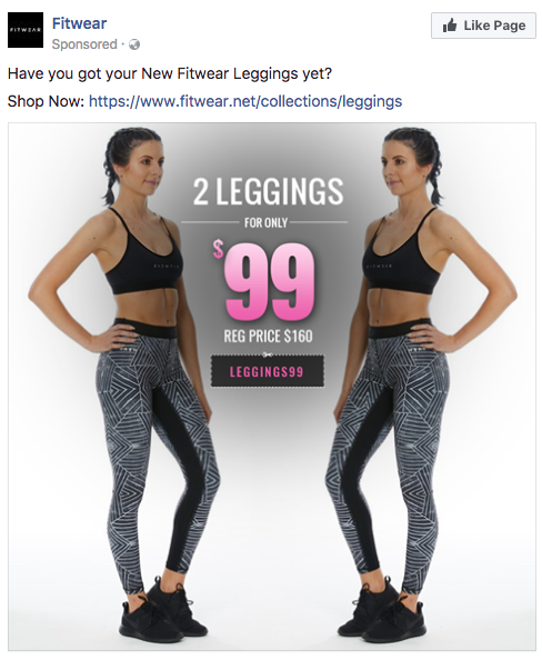 dc5c9e81d0 Here s a Facebook deal posted by fitness retailer Fitwear