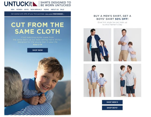 16a5e41d78332 They're running a dad's day promotion in which shoppers can buy a men's ...